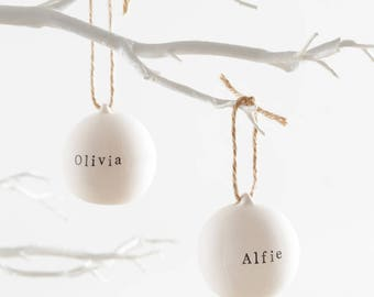 Ceramic Bauble With Natural Twine