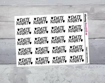 Date Night Stickers, Date Night Planner Stickers, Eclp Date Night Stickers, Dating Stickers, Dating Planner Stickers, Date Stickers