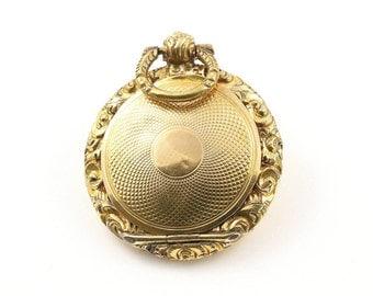 Exquisite Antique 9ct Gold Fob Locket - Victorian , Circa 1840