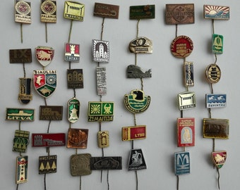 Pins from Lithuania, Palanga, Gedeminas tower, Vilnius pins, Lithuanian pin, badges , vintage pin, soviet pin
