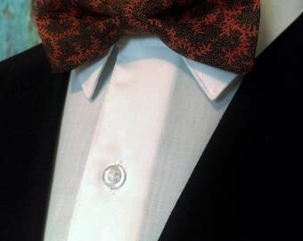 Black Orange Bow Tie, Black Orange Bowtie, Mens Bow Tie, Boys, Bride, Floral, Fathers Day, Birthday, Gift, Wedding, Christmas, Dad, Prom