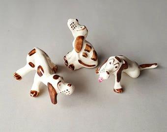 1930s Hound Dog Figurines by Chic