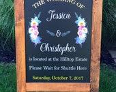Wedding Welcome Sign, Wedding Sign, Monogram Wedding Sign, Rustic Wood Wedding Sign, Wood Wedding Sign, Personalized Wedding Sign