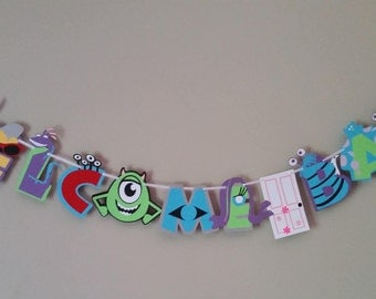 Monsters Inc. Baby Shower Banner, Monsters Inc Baby Shower Decoration, Monsters Inc Baby Shower Ideas
