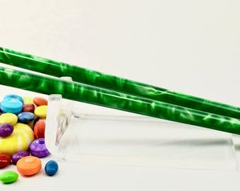 Custom Length-Crazy Clover Slim pair acrylic hair sticks