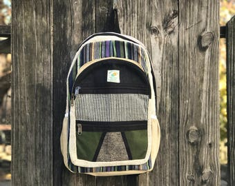 Premium Pure Hemp Handmade bacpack, Himalayan Tribe pack