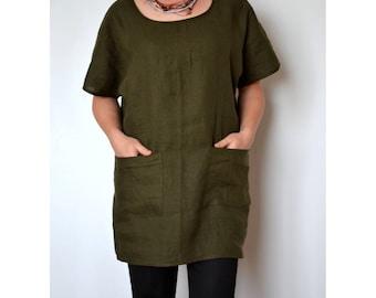 Linen tunic, linen blouse, linen top women, loose linen top, tunic tops, kimono top, linen tunic for women, blouse women, linen clothing