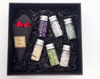 Crystal Kits - Terrarium kit - Chakra Stones Set - Healing Chakra Crystals  - Crystal Gift - Chakra Gift - Gift for kids