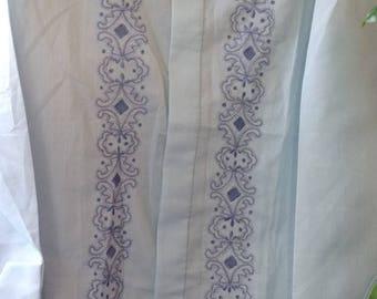 1970's men's dress shirt/70s shirt/psychedelic/hippie/mens hippie shirt/mens clothing/mens vintage/hippie clothing/mens small/mans shirt