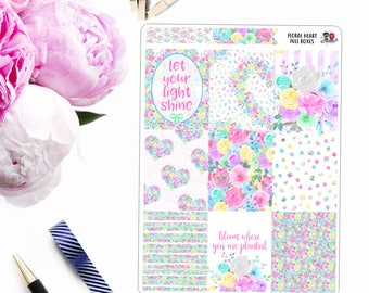 Floral Heart // Weekly Planner Kit