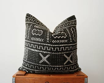 THE CARLISLE African Mud Cloth Triangle Pillow Cover