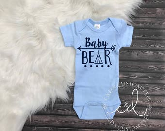 Baby Bear Shirt - Newborn Take Home Outfit - Newborn Boy Shirt - Baby Boy Gown - Take Home Outfit - Hospital Outfit - Newborn Boy Outfit