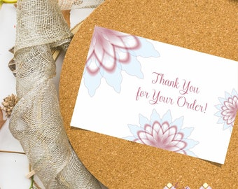 Printable Custom Thank You Card for Artisans, Handmade Business Card, Handmade Branding Business, Craft Packaging