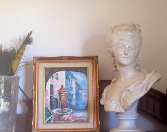 The French provencal fountain knife painting