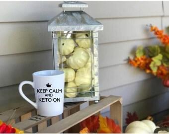 Keep Calm and Keto on mug!  Keto mug, Ketones mug!  Bulletproof Coffee mug!