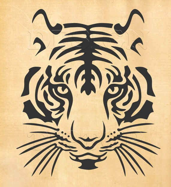 Tiger Svg Head Of A Tiger Svg Dxf Eps Png Print And