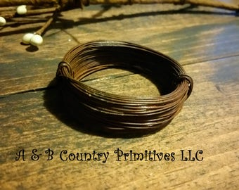 24 Gauge Rusty Wire 50 feet, Rust Colored Wire, Primitive/Rustic Craft Supplies