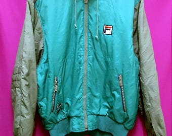 vintage FILA jacket M size c very good condition and very nice colour.