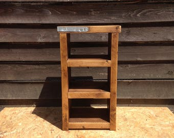 Reclaimed wood small shelving unit / bedside table - Ready for immediate dispatch