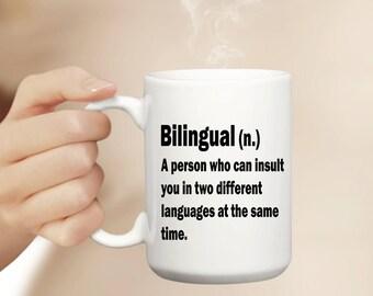 Bilingual Mug   Funny Mug   Cute Mug   Office Mug   Teacher Mug   Student Mug