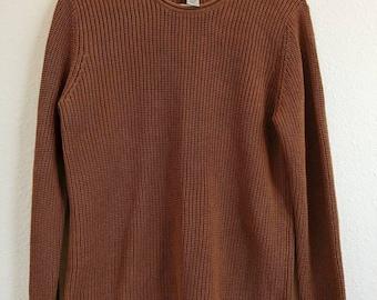 Vintage Burnt Sienna Sweater