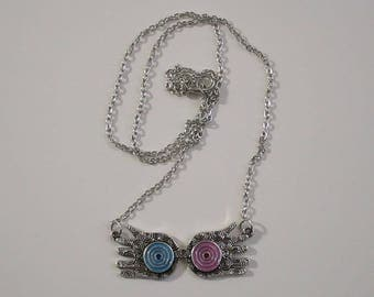 Luna Lovegood Spectrespecs Glasses / HARRY POTTER / Antique Silver Pendant Necklace