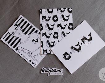 KittyWhale | postcards