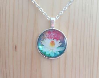 Lotus flower necklace / lotus flower pendant