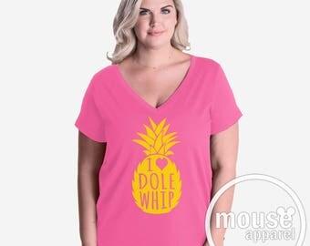 PLUS SIZE Dole Whip VNeck/Disney Dole Whip Shirt/Dole Whip V Neck Shirt Plus Size