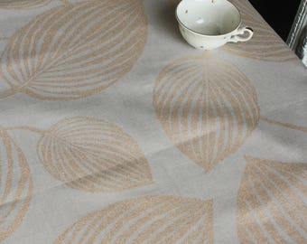Linen tablecloth Dining table cover Modern interior Brown gold table cloth Rectangle tablecloth Natural linen cotton party table cloth
