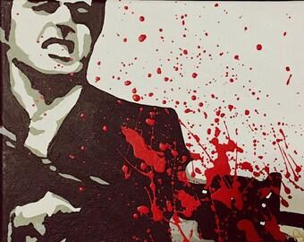 Scarface Tony Montana painting