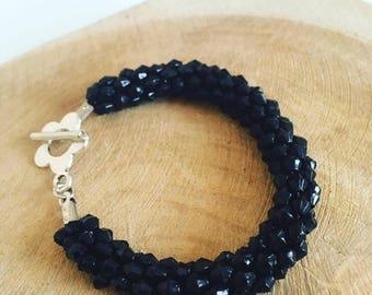 """Black"" Kumihimo bracelet"