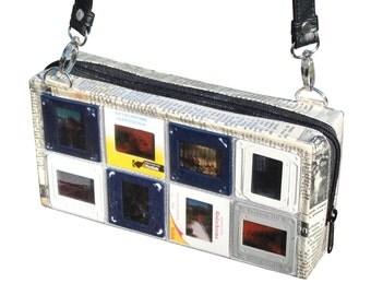 Medium slides crossbody bag, FREE SHIPPING, shoulder bag upcycling by milo, Vegan bag, recycled bag , vegan bag, film slides bag, 70s 60s