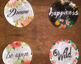 Inspiration Magnets - Happiness Magnet - Wild Magnet - Birthday Gift