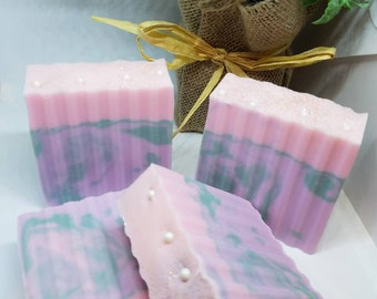 Lavender Mint Handcrafted Soap, Handmade Soap, Fresh Scent