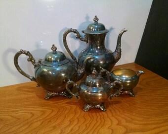 WMA Rogers Oneida Silverplate Tea Set