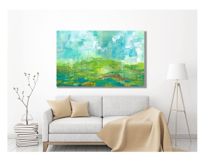 Monet Style Print - Impressionism, Claude Monet, Canvas Wrap Painting, Large Modern Painting, Large Abstract Painting, Above Couch, Table