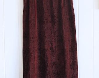Corduroy, maroon, dark red, long skirt