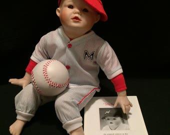 "Yolanda Bello ""Michael"" boy doll by Ashton Drake with paperwork Baseball"
