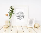 Happiness quote Art print...