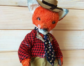 Teddy Fox Fox teddy Handmade fox Stuffed fox Plush fox  Stuffed bear Plush bear Collection teddy fox