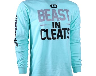Beast In Cleats Long Sleeve Softball T-shirt, Softball Shirts, Softball Gift - Free Shipping!
