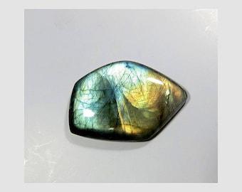51 Cts 38X27X6mm Natural Labradorite Cabochon Loose Gemstone Fancy Shape Blue Flashy Labradorite Gemstone