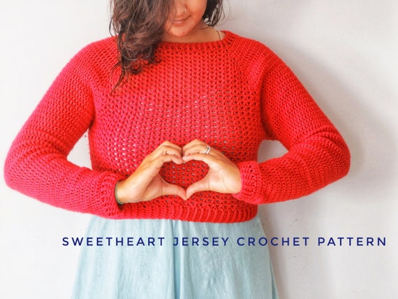 Sweetheart Jersey Crochet Pattern