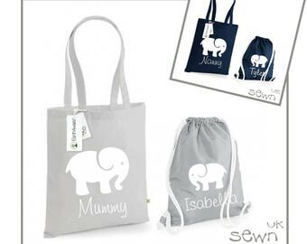 Personalised Matching Bag Set - Perfect for Mummy/daughter, Nanny/grandson  days out together, swimming lessons, daycare, shopping etc