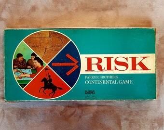 Vintage Risk Board Game | Parker Brother's, Continental game, copyright 1963,