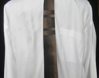 Vintage Skinny Tie in Silk by Don Loper, Don Loper Vintage Silk Tie, ca. 1950s