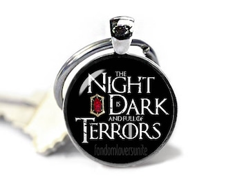 Melisandre Keyring The Night is Dark and full of Terrors Keychain Game of Thrones Keyfob Melisandre Keychain