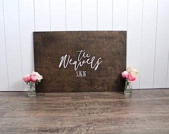 Wedding Guest Book Alternative - Guest Book Idea - Unique Guest Book - Custom Guest Book - Family Name Sign