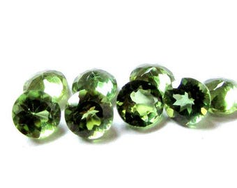 8 pieces 5mm Green Apatite faceted round gemstone, Natural Apatite calibrated Size round cut,  Green Apatite round faceted loose gemstone